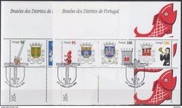 PORTUGAL 1998 HB-144/45 USADA (1º DIA) - Hojas Bloque