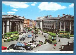 DUBLIN TRINITY COLLEGE AND BANK OF IRELAND COLLEGE GREEN 1964 - Dublin