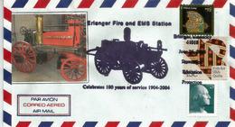 Erlanger Fire Department Station (Kentucky) USA.  100 Ans De Service., Special Cover - Firemen