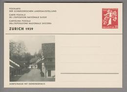 """Schweiz Ganzsache Landi 1939 Zu# 146-010 Ungebraucht """"Gemeindehaus"""" - Entiers Postaux"""