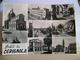 1960 - Foggia - Saluti Da Cerignola - Piazza Duomo - Piazza Matteotti Teatro Mercadante - Vedute Cartolina Interessante - Souvenir De...