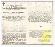DP Dokter Lt. Brandweer Pieter J. Spincemaille ° Deerlijk 1884 † Rumbeke Roeselare X J. Stroobandt / Devos Van Rie  Ergo - Devotion Images