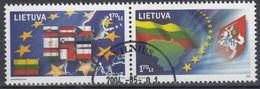 Litouwen Mi 844,845 E.U.  Gestempeld Fine Used - Europese Gedachte