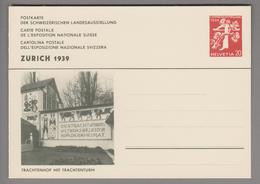 """Schweiz Ganzsache Landi 1939 Zu# 146-035 Ungebraucht """"Trachtenhof"""" - Entiers Postaux"""