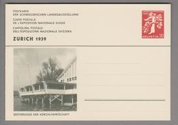 """Schweiz Ganzsache Landi 1939 Zu# 146-034 Ungebraucht """"Küechliwirtschaft"""" - Entiers Postaux"""