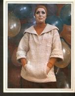 "K. USSR Soviet Russia 1979 Women Fashion Jacket With Pocket Clutch Knitting Pattern W Needles On The Backside Size 6""x7"" - Fashion"