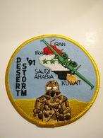 ECUSSON TISSUS PATCH ARMEE DE L'AIR GUERRE DU GOLFE 1991 IRAK DESERT STORM ETAT EXCELLENT - Armée De L'air