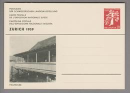 """Schweiz Ganzsache Landi 1939 Zu# 146-013 Ungebraucht """"Fischstube"""" - Entiers Postaux"""