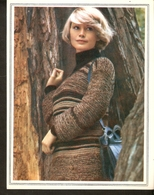 """K. USSR Soviet Russia 1979 Women Fashion Striped Pullover Knitting Pattern With Needles On The Backside Size 6""""x7"""" - Fashion"""