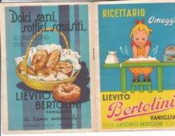 B1966 - RICETTARIO OMAGGIO BERTOLINI Anni '50/PUBBLICITA'/PASTICCERIA/CUCINA - Pubblicitari