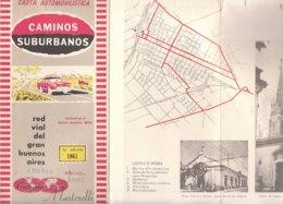B1968 - MAP - CARTINA - CARTA AUTOMOBILISTICA RED VIAL DEL GRAN BUENOS AIRES Cartografia Martorelli 1961 - Carte Stradali