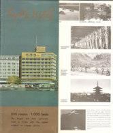 B1971 - Brochure GIAPPONE - JAPAN - KYOTO HOTEL Anni '60 - Dépliants Touristiques
