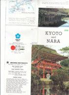 B1972 - Brochure CARTINA MAP - GIAPPONE - JAPAN - KYOTO AND NARA Expo'70 Osaka - Dépliants Touristiques
