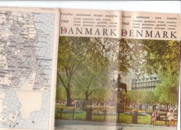B1976 - Brochure DANMARK - DANIMARCA - HOTEL/PENSIONI 1968 - Dépliants Touristiques