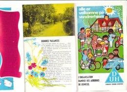 B1977 - Brochure DANMARK - DANIMARCA - AUBERGES DE JEUNESSE/OSTELLI Anni '60 - Dépliants Touristiques