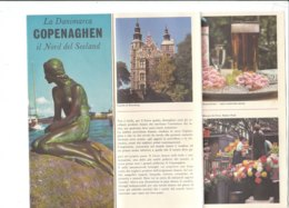 B1979 - Brochure DANIMARCA - COPENAGHEN NORDDEL SEELAND Anni '60/MAP/PARCO DI TIVOLI/CASTELLO DI ROSEMBORG - Dépliants Touristiques