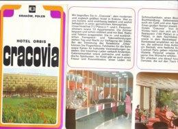 B1981 - Brochure POLONIA - HOTEL ORBIS CRACOVIA - Dépliants Touristiques