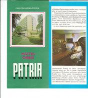 B1983 - Brochure POLONIA - CZESTOCHOWA - HOTEL ORBIS PATRIA - Dépliants Touristiques