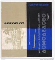 B1985 - AVIAZIONE - Brochure SOVIET AIRLINES AEROFLOT - AEROPORTO DE MOSCOU DOMODIEDOVO Anni '60/VILNIUS/KAUNAS - Publicités