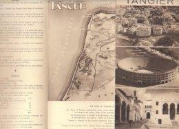B1986 - Brochure MAROCCO - TANGIER Anni '60/MARKET PLACE/CAPE SPARTEL/BULLRING/KASBAH/MAP - Dépliants Touristiques