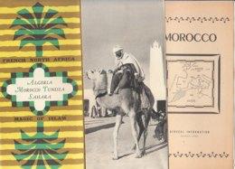 B1987 - Brochure ALGERIA - MAROCCO - TUNISIA - SAHARA 1952/MARRAKECH - Dépliants Touristiques