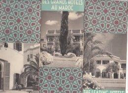 B1988 - Brochure MAROCCO - LES GRANDS HOTELS Anni '50 - Dépliants Touristiques