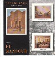B1990 - Brochure MAROCCO - CASABLANCA - HOTEL EL MANSOUR - Dépliants Touristiques