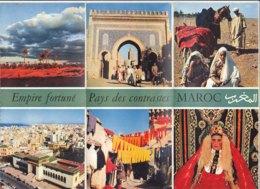 B1991 - Brochure MAROCCO Anni '50/FES/MEKNES/MOUSSEM DE MOULAY IDRISS/CAVALIER BERBERE/AGADIR/SKI DANS L'ATLAS - Dépliants Touristiques