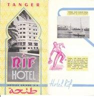 B1992 - Brochure MAROCCO - TANGER - RIF HOTEL Anni '50/MARCHE AUX PAIN/CHARMEURS DE SERPENTS/TYPES D'ENFANTS MAROCAINS - Dépliants Touristiques