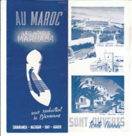 B1994 - Brochure MAROCCO - CASABLANCA-MAZAGAN-SAFI-AGADIR - LES HOTELS MARHABA Anni '50/ - Dépliants Touristiques