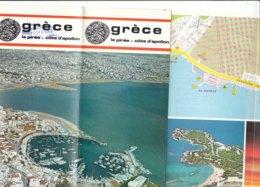 B1997 - Brochure GRECIA - LE PIREE - COTE D'APOLLON 1973/MAP/MARINA DE VOULIAGMENI/GOLF DE GLYFADA/MIKROLIMANO - Dépliants Touristiques
