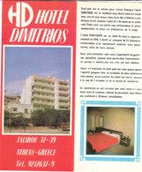 B2001 - Brochure GRECIA - ATHENS - HOTEL DIMITRIOS/MAP - Dépliants Touristiques