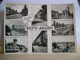 1957 - Varese - Saluti Da Busto Arsizio - Piazza S. Giovanni E Duomo - Via Cardinal Tosi - Stazione F.FSS.  - Piscina - Souvenir De...