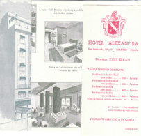 B2006 - Brochure SPAGNA - HOTEL ALEXANDRA 1955 - Dépliants Touristiques