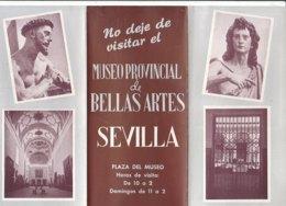 B2007 - Brochure SPAGNA - SEVILLA - MUSEO PROVINCIAL & BELLAS ARTES Anni '50/PACHECO/MURILLO - Dépliants Touristiques