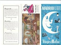 B2008 - Brochure SPAGNA - MADRID DE NOCHE - VIAJES MELIA Anni '50/GRAN TABERNA GITANA - Dépliants Touristiques
