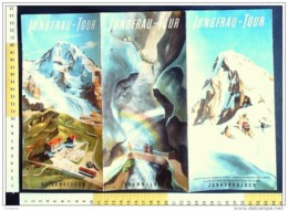 B2013 - Brochure SVIZZERA - JUNGFRAU TOUR Anni '60/TRENO WENGERN-ALP/KL.SCHLEIDEGG/TRUMMELBACH - Dépliants Touristiques