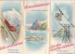 B2014 - Brochure SVIZZERA - LAC DES QUATRE-CANTONS Anni '50/FUNIVIE/KLEWENALP/TRUBSEE/JOCHPASS/ENGELBERG/PILATUS/VITZNAU - Dépliants Touristiques