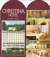 B2017 - Brochure FRANCE - LOURDES - CHRISTINA HOTEL - Dépliants Touristiques