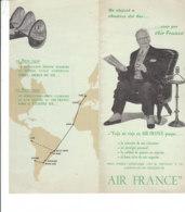 B2018 - AVIAZIONE - Brochure AIR FRANCE - AEREO SUPER CONSTELLATION Anni '50 - Pubblicità