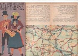 B2019 - Brochure GERMANY - REPUBLIQUE FEDERAL DE ALLEMAGNE E BERLINO Ed. Anni 50 /CARTINA/KIEL/LUNEBURG/HIDELSHEIM - Dépliants Touristiques