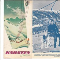 B2022 - Brochure AUSTRIA - KARNTERN Ed.1956/ILL. EBNER/FLATTNITZ/MALLNITZ/KOTSCHACH/KARAWANKEN/GERLITZEN/IMPIANTI SCI - Dépliants Touristiques