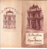 B2024 - Brochure TORINO - BASILICA DEL CORPUS DOMINI - V° CENTENARIO DEL MIRACOLO DI TORINO 1953 - Dépliants Touristiques