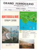 B2031 - Brochure LA SPEZIA - MONTEROSSO AL MARE - CINQUE TERRE Anni '80/MANAROLA/RIOMAGGIORE/VERNAZZA/CORNIGLIA - Dépliants Touristiques