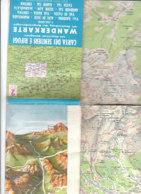 B2033 - CARTA DEI SENTIERI E RIFUGI VAL GARDENA/ALPE DI SIUSI/MARMOLADA/VAL DI FASSA/VAL BADIA/CORTINA Ed. Anni '70 - Carte Topografiche