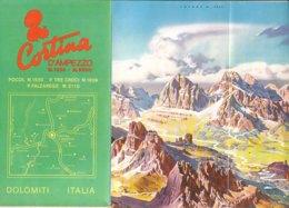 B2034 - CARTA DEI SENTIERI E RIFUGI BELLUNO - CORTINA D'AMPEZZO Ed. Anni '70 - Cartes Topographiques