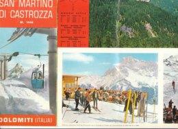 B2035 - CARTA /MAP - TRENTO - S.MARTINO DI CASTROZZA Ed. 1960/IMPIANTI SCI - Carte Topografiche