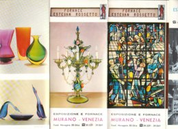 B2039 - Brochure VENEZIA - VETRERIA ARTISTICA ESTEVAN ROSSETTO MURANO/MAP Anni '60 - Dépliants Touristiques
