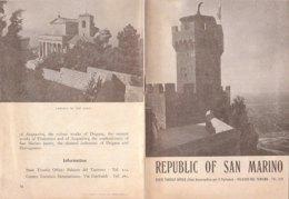 B2042 - Brochure REPUBBLICA DI S.MARINO Ed. Anni '50 - Dépliants Touristiques