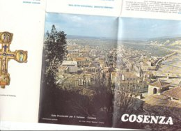 B2048 - Brochure COSENZA Ed.EPT Anni '80/MAP CARTINA - Dépliants Touristiques